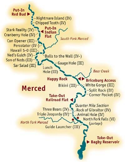 merced river map